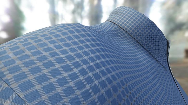 Die Lösung des Fraunhofer IGD simuliert Textilien über eine Gitterstruktur. Dadurch lassen sich Verfahren nutzen, die besonders schnell sind.