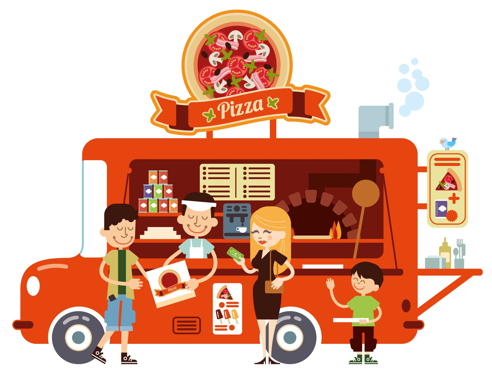 Simple Pizza Food Truck